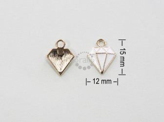 Diamant 15 mm - smalt bílý
