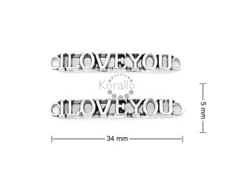 "Nápis ""I LOVE YOU"" 5 mm"
